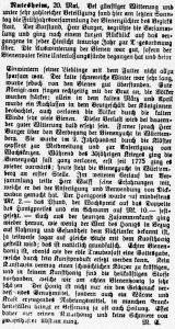 Zeitungsartikel vom 20. Mai 1924